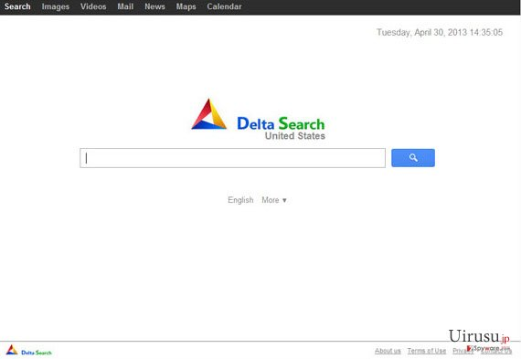 yhs.delta-search.comのスクリーンキャプチャ