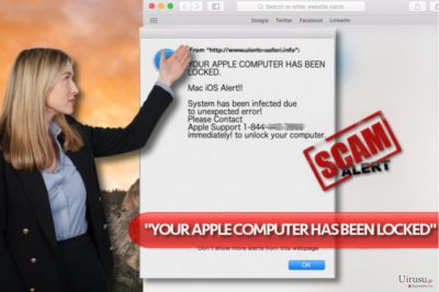 """""""YOUR APPLE COMPUTER HAS BEEN LOCKED"""" ウィルス"""